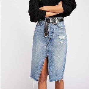 Levi's deconstructed midi skirt